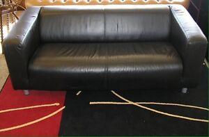 IKEA leather klippan loveseat sofa