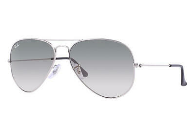 Ray-Ban Aviator Sunglasses 3025 003 32  Silver Frame/Grey Gradient Lens 58mm