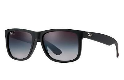 Ray-Ban Sunglasses Justin RB4165 Black 601/8G 55mm Grey Gradient BRAND NEW