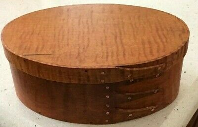 SET OF 2 MINI CHERRY SHAKER OVAL BOXES---SIZES # 0 and # 00