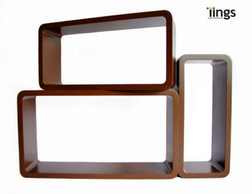 wandregal braun regale aufbewahrung ebay. Black Bedroom Furniture Sets. Home Design Ideas