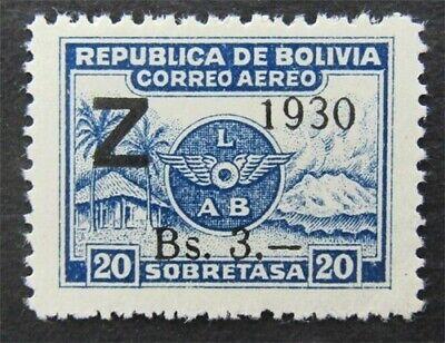 nystamps Bolivia Stamp # C25 Mint OG H $80   L30y302