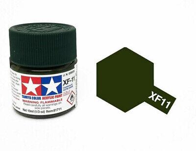 TAMIYA XF11 JN GREEN water based acrylic paint 10 ml