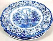 Liberty Blue Independence Hall Plate
