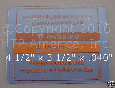1 Clear Welding Cover Lens Plate 4.5 X 3.5 Striker Ocf