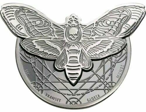 2018 1500 Shilling Tanzania Death's Head Hawkmoth 2oz Silver Proof Coin