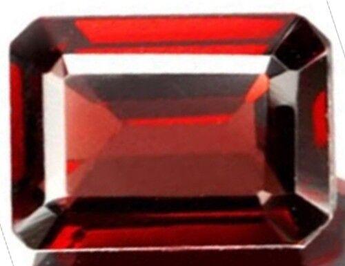 RED GARNET 12 x 10 MM EMERALD CUT ALL NATURAL