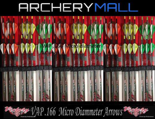 6 VICTORY MICRO DIAMETER VAP V6 250,350,400,450,500 ARROWS *FREE CUT & INSERTS*