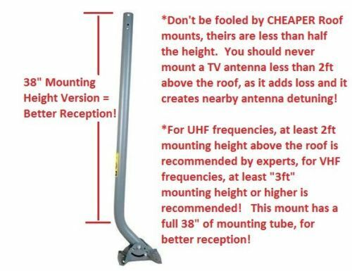 """TV Antenna Roof Mount with Taller 38"""" Mast for Higher Perfor"""