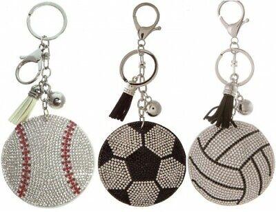 cer ball, Volleyball Rhinestone Key Chain Purse Charm  (Volleyball Keychains)