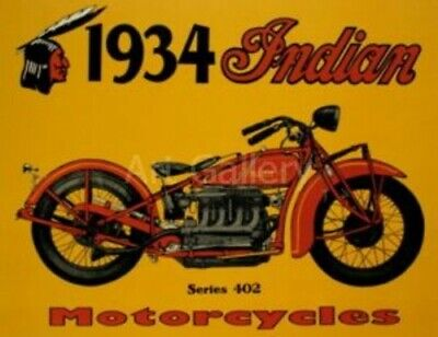 INDIAN Motorcycle Company, Decal , Patch , VintageArt Print Fridge Magnet