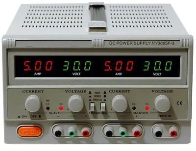 Dc Power Supply Variable Triple Output Hy3005f-3 0-30v 5a Led Display