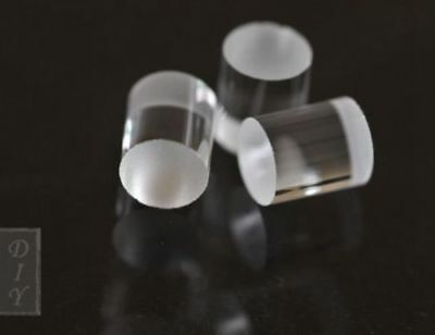 3pcs K9 Glass Cylinder Line Lens 57mm For Laser Module For Horizontal Line