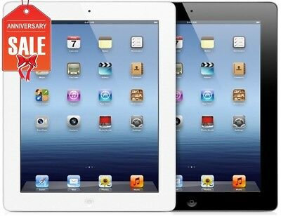 Apple iPad 4th gen 16GB WIFI + 4G (UNLOCKED) Retina Display (Black White) (R-D)
