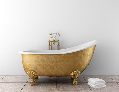 The bath is the centrepiece of the room.