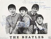Beatles Signed Photo