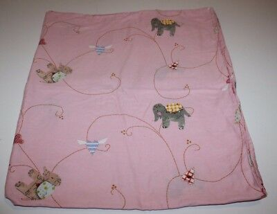 "IKEA FABLER HJARTA Duvet Quilt Cover Elephant PINK Hearts Baby Toddler Crib 46"""