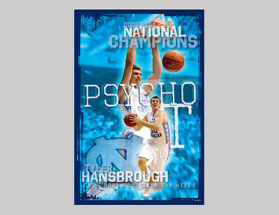 - Tyler Hansbrough PSYCHO-T North Carolina Tar Heels Basketball Premium POSTER