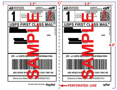 1000 Half Sheet Self Adhesive Labels 8.5 X 11 For Laser Inkjet Printer Fedex