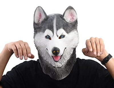 Siberian Husky Dog Latex Animal Head Mask Novelty Costume Rubber Masks - Husky Dog Costume