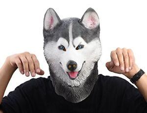Siberian Husky Dog Latex Animal Head Mask Novelty Costume Rubber Masks