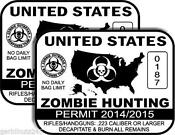 Zombie Permit Decal