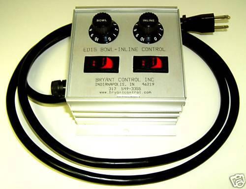 Bryant BCI ED15-BI, Dual Vibratory Feeder Control for a Bowl & Inline 15A/115V