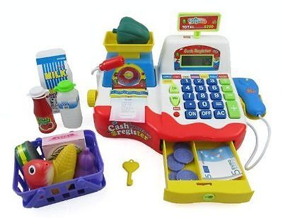 Supermarket Cash Register with Checkout Scanner, Weight Scal