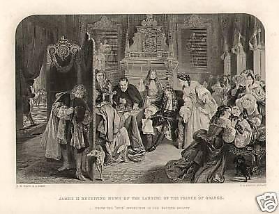 James II News Of Prince Orange 1874 Antique Print