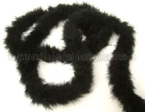 15g-MidNite-BlacK-marabou-feather-boa-boas-2-034-W-72-034-L-for-sewing-and-crafting