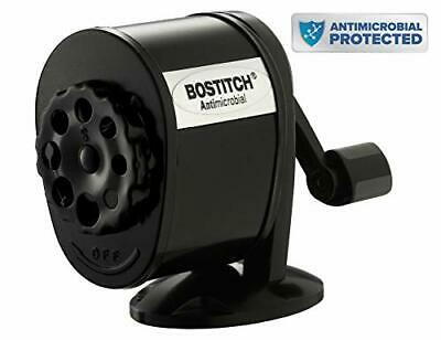 Bostitch Counter-mountwall-mount Antimicrobial Manual Pencil Sharpener Black