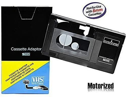 Motorized VHS-C Cassette Adapter For JVC C-P7U CP6BKU C-P6U,Panasonic PV-P1 RCA*