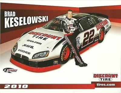 Brad Keselowski 2010 Discount Tire Nationwide Postcard