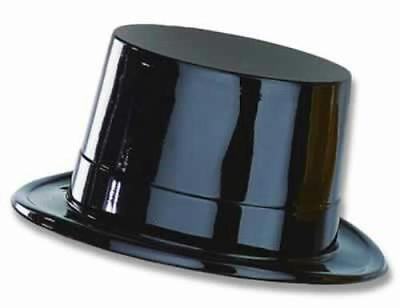 Black Plastic New Years Magician Magic Top Hat