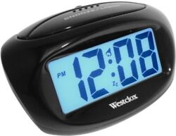 Westclox LCD Alarm Clock (3c