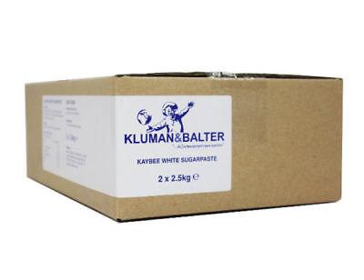 Kluman & Balter Kaybee White Cake sugar paste Icing (2x2.5kg) 5kg