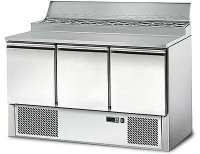 [SAS147A] Saladette / Zubereitungstisch 1,37 m x 0,7 m - mit 3 Türen