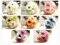 7 Head Artificial Bridal Barberton Daisy Floral Bouquet Party Wedding Home Decor
