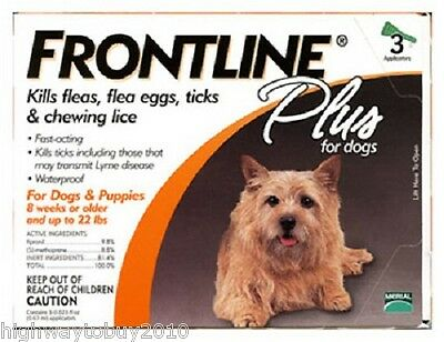 Frontline Plus # 287010 3 Pack Small Dog Flea, Tick & Lice Treatment