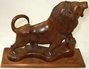 Carved Wooden Lion