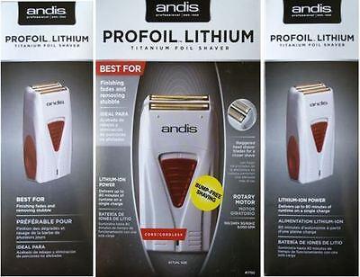 Andis Profoil Lithium Titanium Cord/Cordless Foil Shaver 17150 Bump Free Shaving
