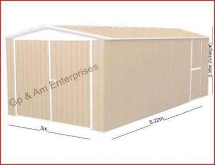 Absco Eco-Nomy Range 5meter Utility Garden Shed 3xDoors Storage Daisy Hill Logan Area Preview