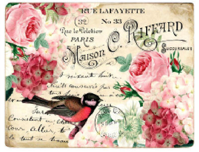 Labels Images (Vintage Image Pink Roses Birds Postcards Labels Furniture Transfers Decal BIR841 )