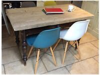 Genuine Victorian Chic Shabby Dining Table with Reclaimed Top