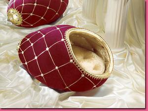 NIB $300 Franklin Mint Dog Bed Faberge Egg LTD ED OF 500 SIGNED