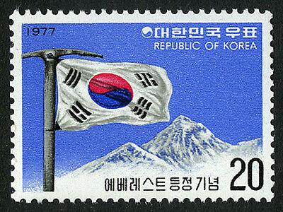 Korea 1110, MNH. Korean Flag on Mt. Everest, 1977