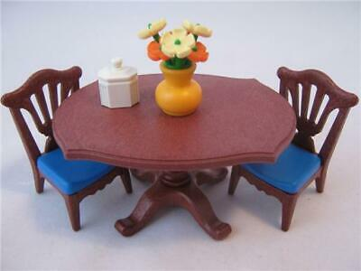 Playmobil Victorian Dollshouse/Palace furniture: Dining table & chairs NEW