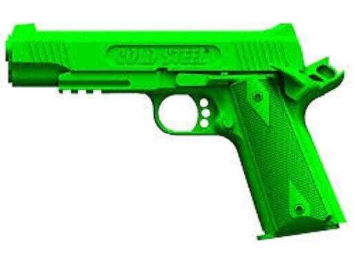 Cold Steel 92RGC11C Green Cocked Locked Rubber Training 1911 Pistol