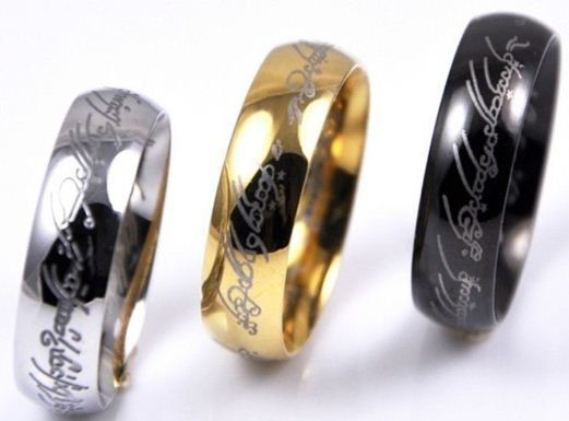 Ring - Lord of the Rings The One Ring Lotr Stainless Steel Fashion Men's Ring Size 6-13