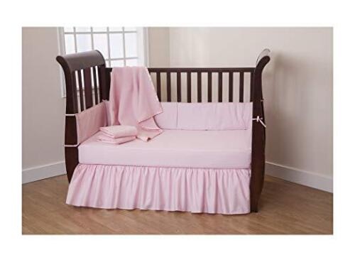 American Baby Company 100% Cotton Percale Ruffled Crib Skirt, Pink